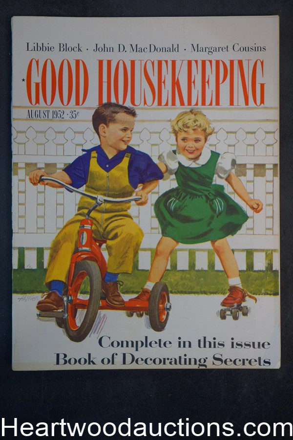 Good Housekeeping Aug 1952 - High Grade