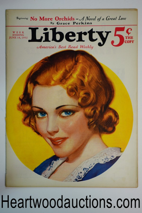 Liberty Jun 18, 1932 Leslie Thrasher cover, Dr. Seuss, FDR article