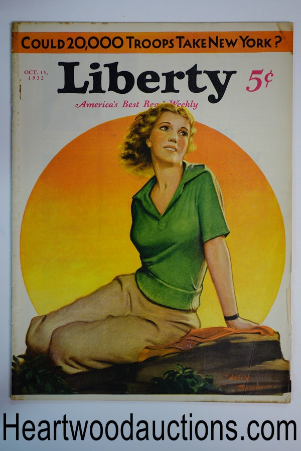 Liberty Oct 15, 1932 Leslie Thrasher cover