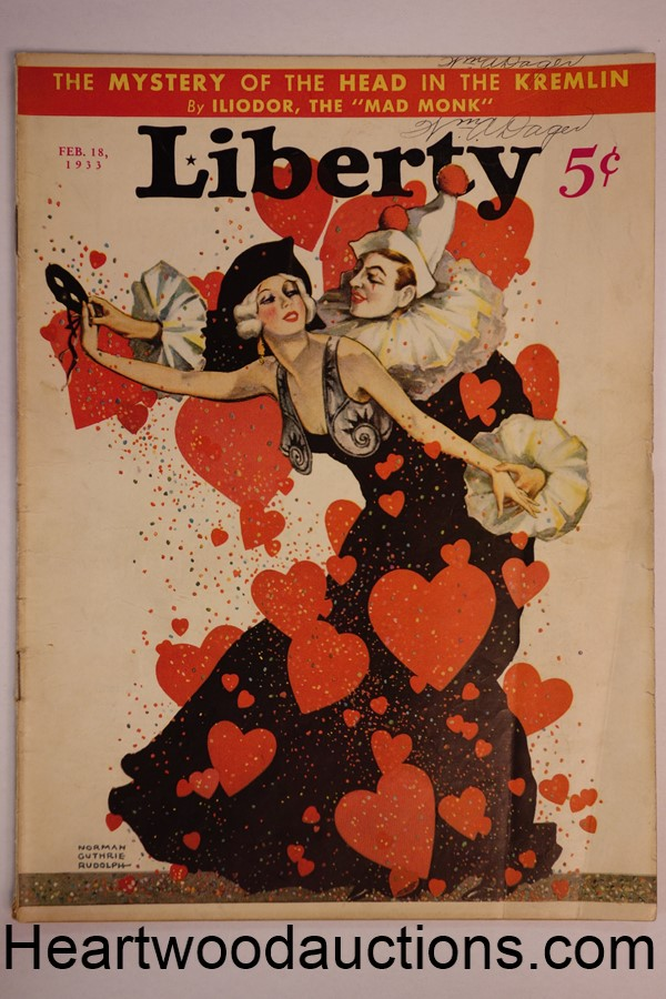 Liberty Feb 18, 1933 Norman Guthrie Rudolph cover