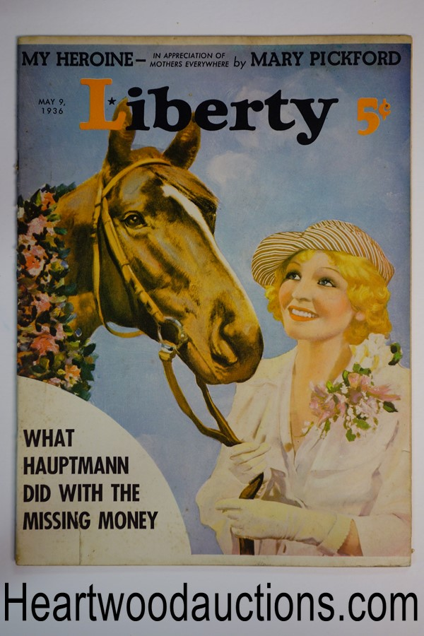 Liberty May 9, 1936 Cover produced by George Larkin-MacFadden Studio