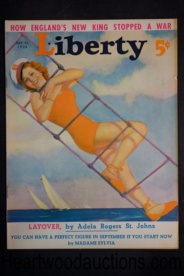 Liberty Jul 25, 1936 Cover produced by George Larkin-MacFadden Studio