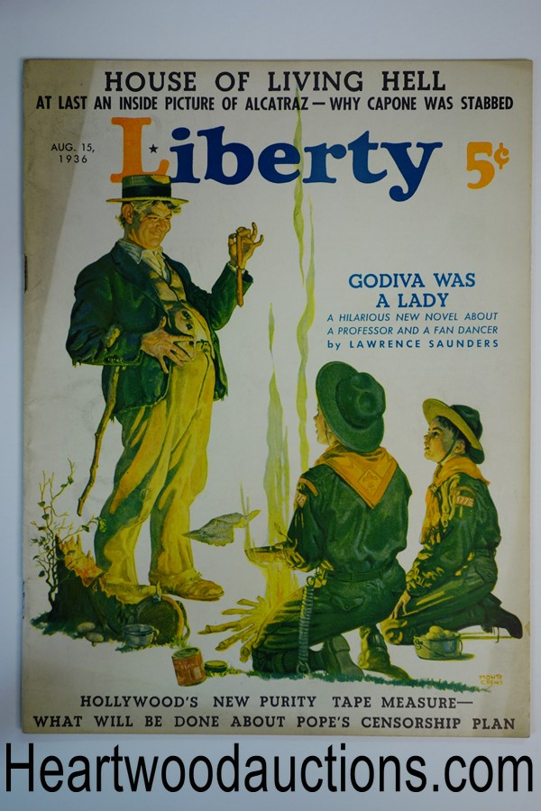 Liberty Aug 15, 1936 Monte Crews cover