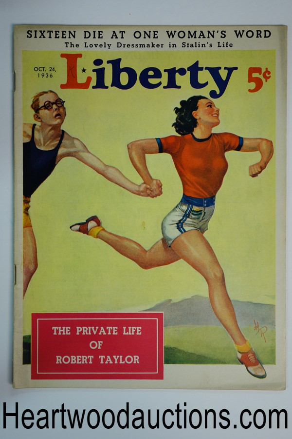 Liberty Oct 24, 1936 Hubbell Reed cover - High Grade