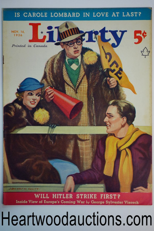 Liberty Nov 14, 1936 John Newton Howitt Cover