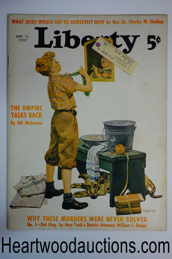 Liberty Sep 11, 1937 Percy Lee cover, Max Brand cover