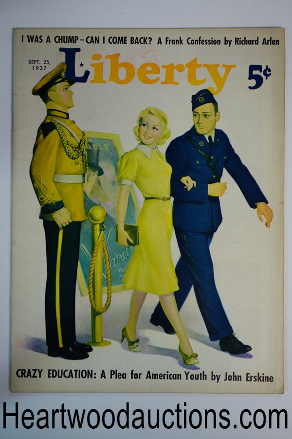 Liberty Sep 25, 1937 Robert G. Harris cover, Max Brand story