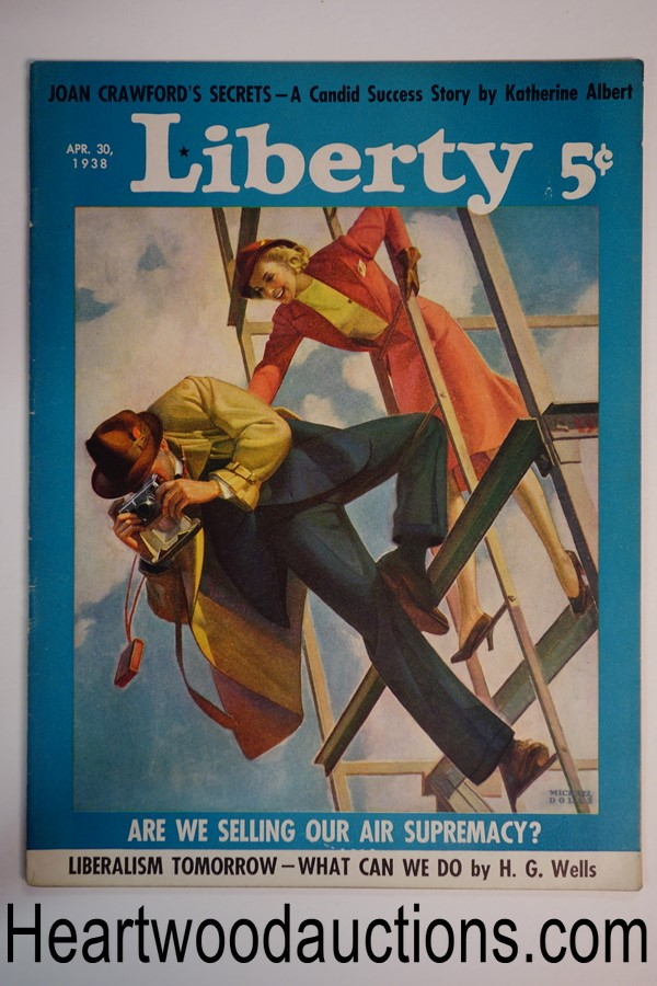 Liberty Apr 30, 1938 Michael Dolas cover, H. G. Wells article