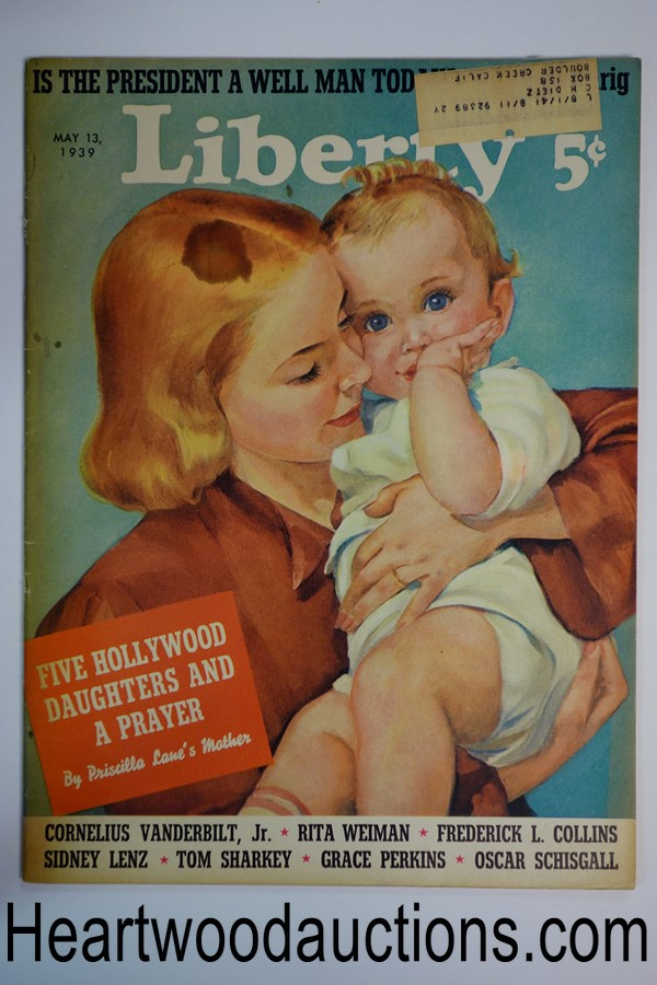 Liberty May 13, 1939 Elise Parker cover