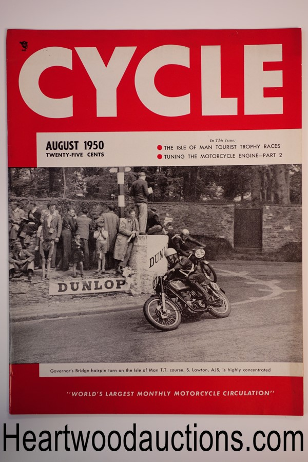 Cycle Aug 1950 - High Grade