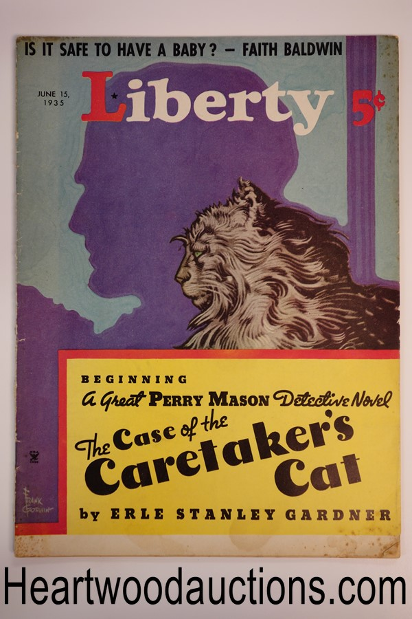 Liberty Jun 15, 1935 Frank Godwin cover, Erle Stanley Gardner Perry Mason story