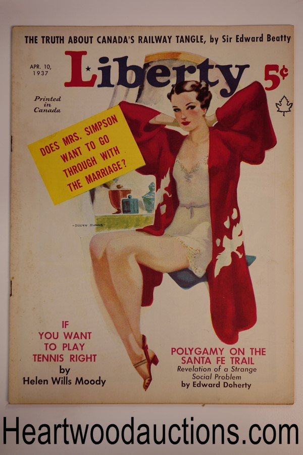 Liberty Apr 10, 1937 Scott Evans cover