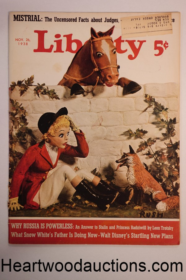 Liberty Nov 26, 1938 Walt Disney; Football Article