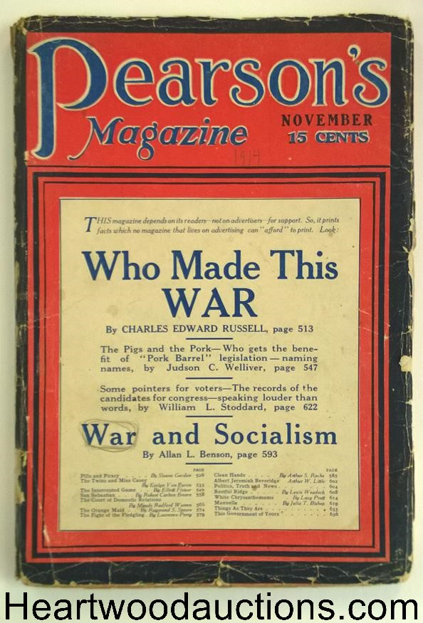Pearson's Magazine Nov 1914 Political Articles