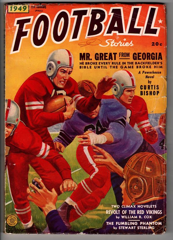 Football Stories Fall 1949 George Gross Cover art