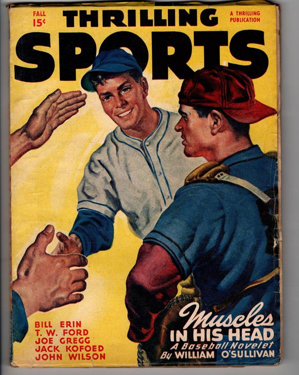 Thrilling Sports Fall 1947 Baseball cover