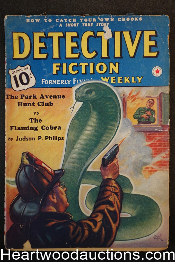Detective Fiction Weekly June 29 1940 Park Ave Hunt Club, Judson Philips, Hugh Cave