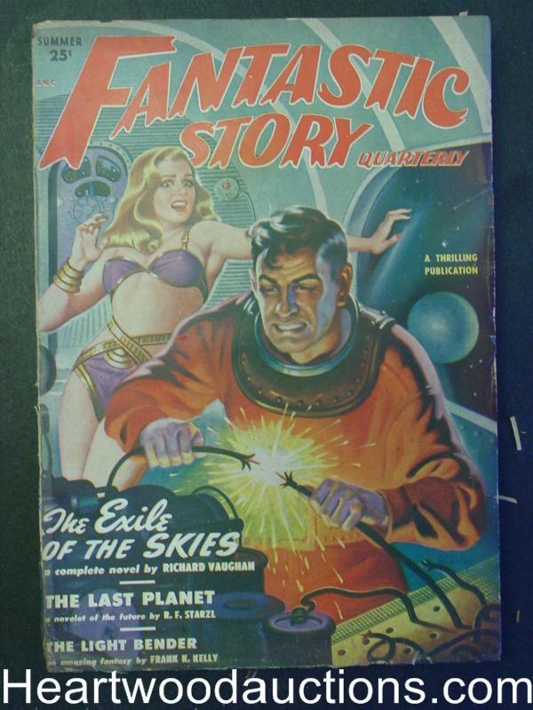 "Fantastic Story Magazine 1950 Pulp Comic Books: ""Fantastic Story"" Summer 1950 Good Girl Art"