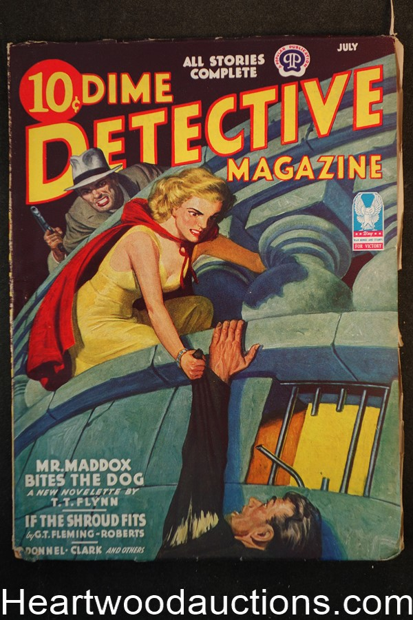 Dime Detective July 1943 T.T. Flynn- Mr. Maddox, Dale Clark; G.T. Fleming Roberts, GGA - High Grade