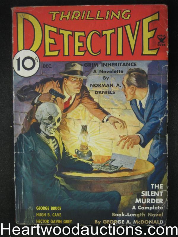 Thrilling Detective Dec 1934  Skeleton Cover