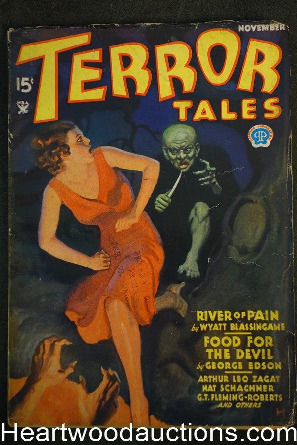 Terror Tales Nov 1934 GT Fleming Roberts, 3rd Issue, Howitt cover