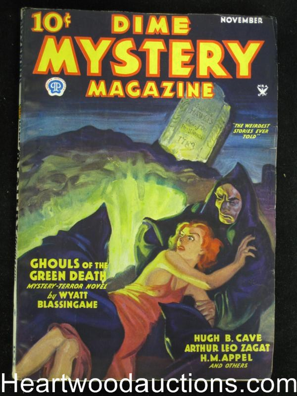 Dime Mystery Magazine Nov 1934 Baumhofer Cover