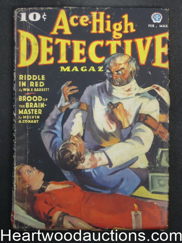 Ace High Detective Feb  1937 Wild Bondage cover