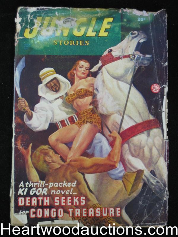 Jungle Stories Summer 1946 Damsel in Distress cover