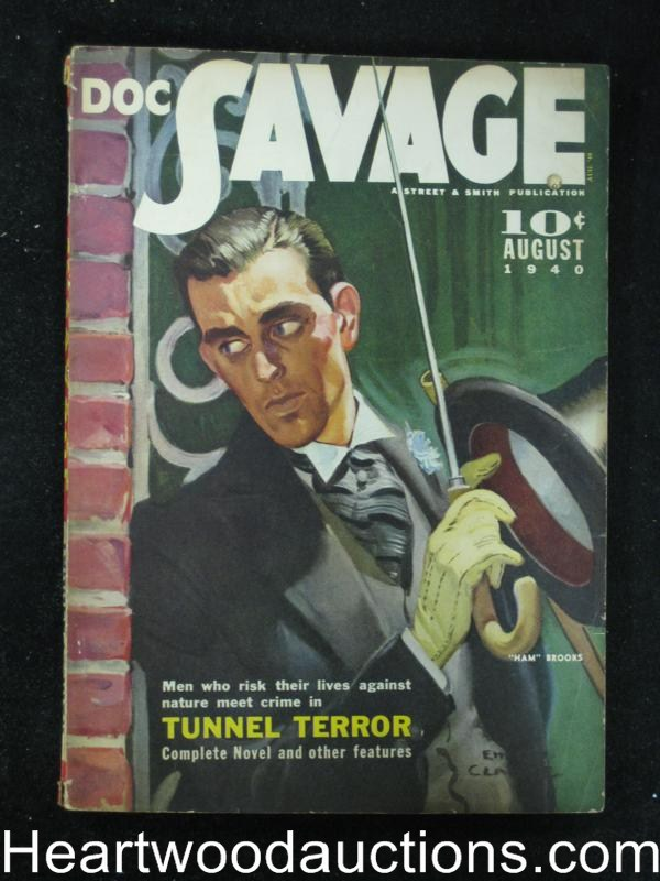Doc Savage Aug 1940 George Allen Moffatt, Bogart