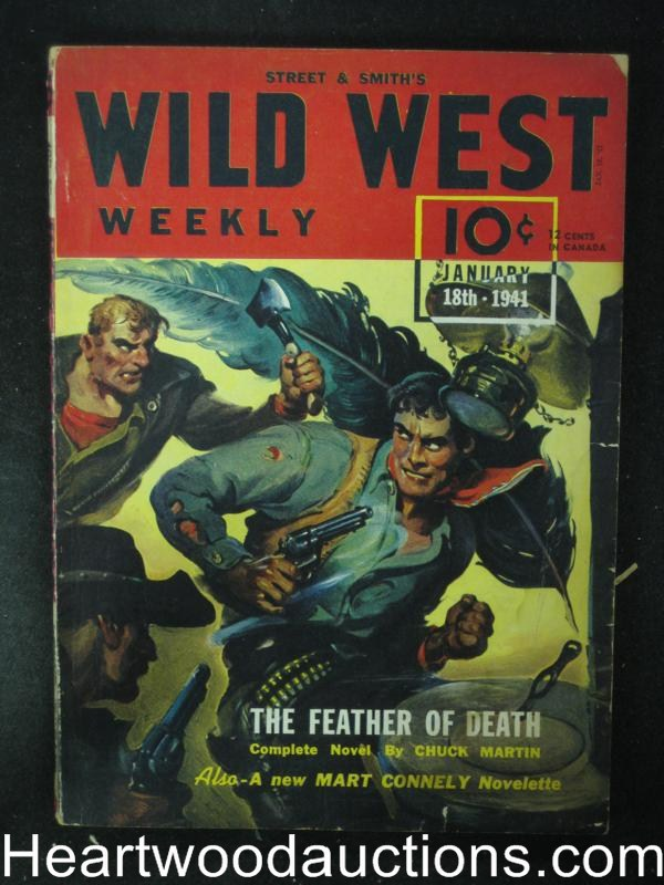 Wild West Weekly Jan 18 1941 hatchet attack