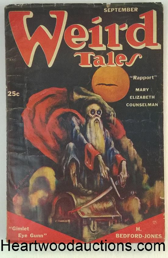 Weird Tales Sep 1951 Quinn, C.A. Smith H.Bedford Jones