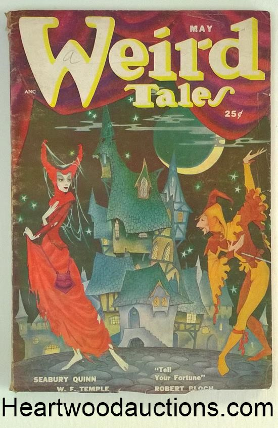 Weird Tales May 1950 Robert Bloch, Seabury Quinn; Dolgov Cvr.