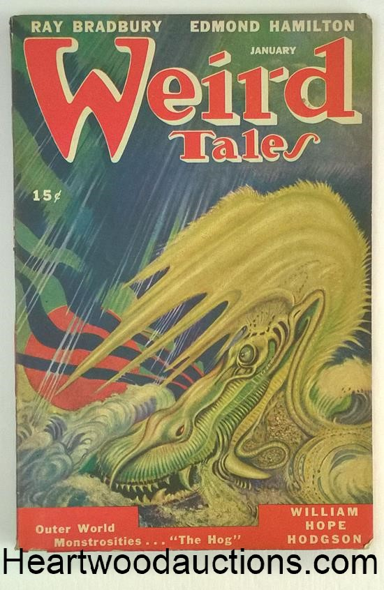 Weird Tales Jan 1947 Ray Bradbury; H.P. Lovecraft - High Grade