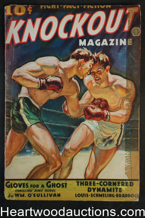 Knockout Jan 1937 FIRST ISSUE Louis, Schmeling, Braddock