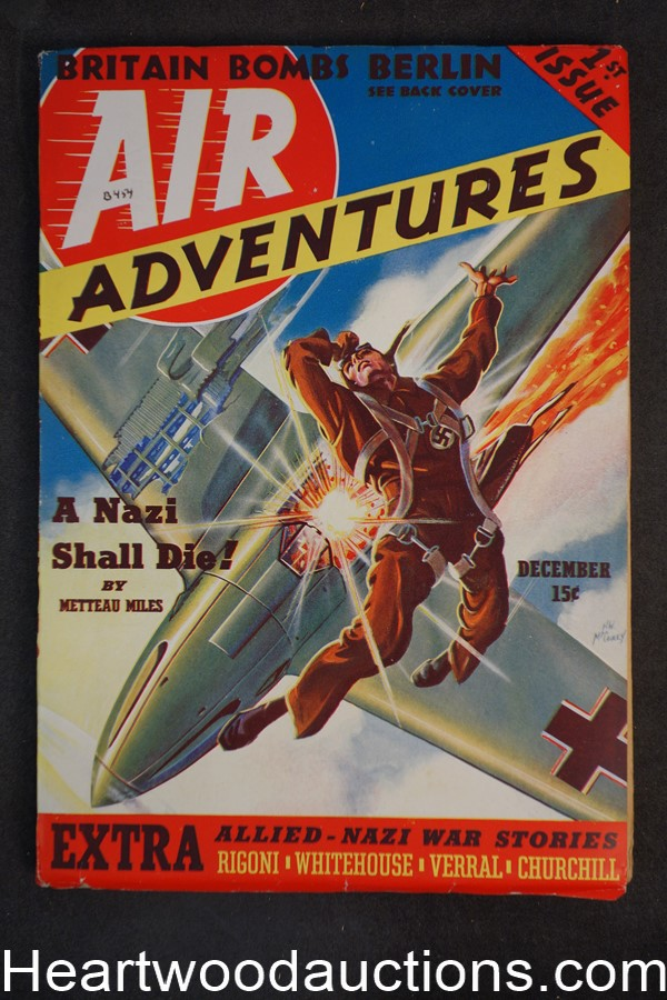 Air Adventures Dec 1939 Vol 1 #1 - High Grade