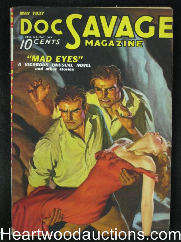 Doc Savage  May 1937  Cool GGA/Doc Double  Cvr Mad Eyes - High Grade