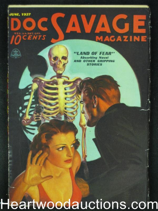 Doc Savage  Jun 1937  Fantastic Skeleton GGA Cvr - High Grade