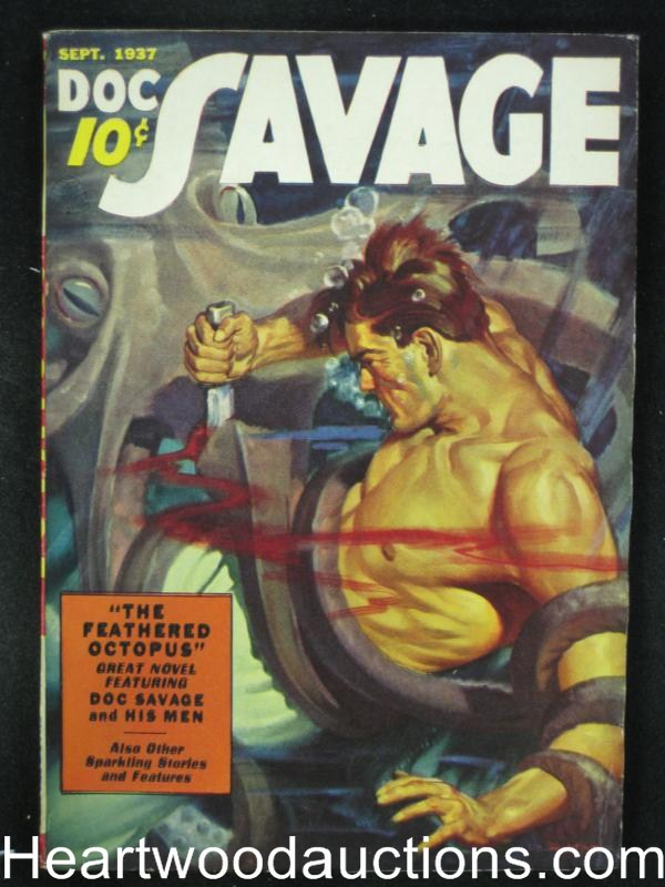 Doc Savage  Sep 1937  The Feathered Octopus - High Grade
