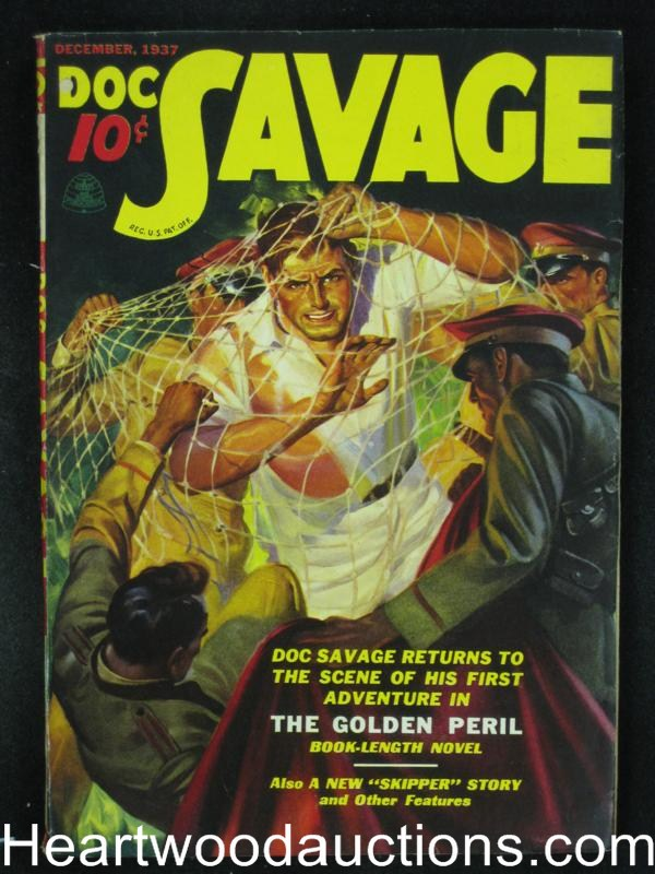 Doc Savage  Dec 1937  The Golden Peril - High Grade