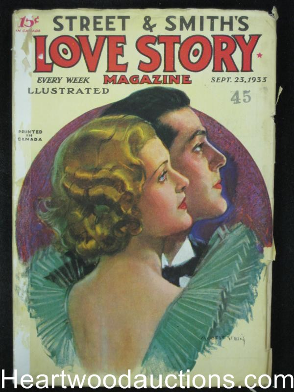 Love Story Sep 23 1933 Stein Cover