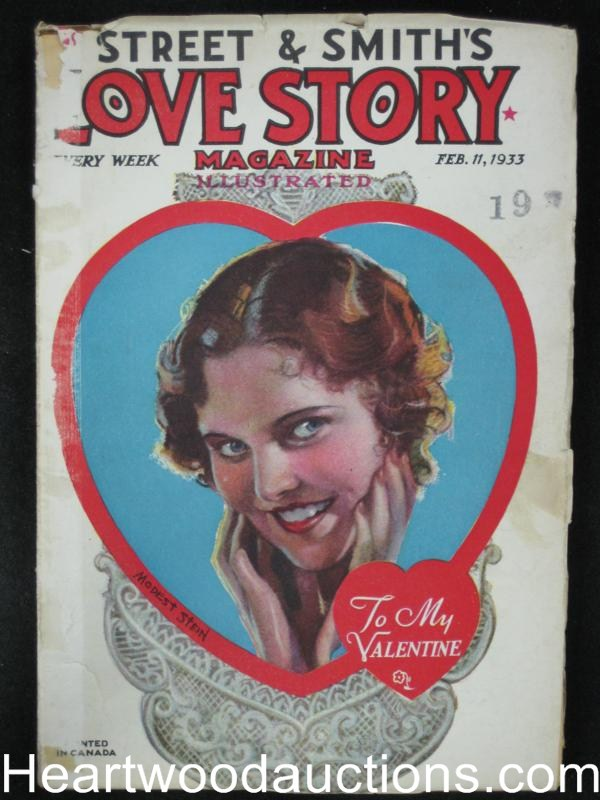 Love Story Feb 11 1933 Peggy Gaddis Valentine's Day