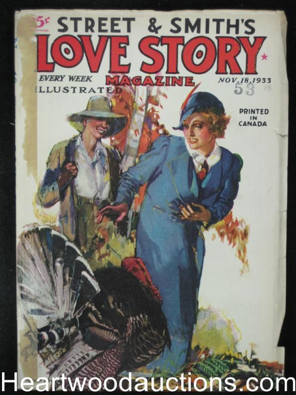 Love Story Nov 18 1933 Peggy Gaddis Stein Cover