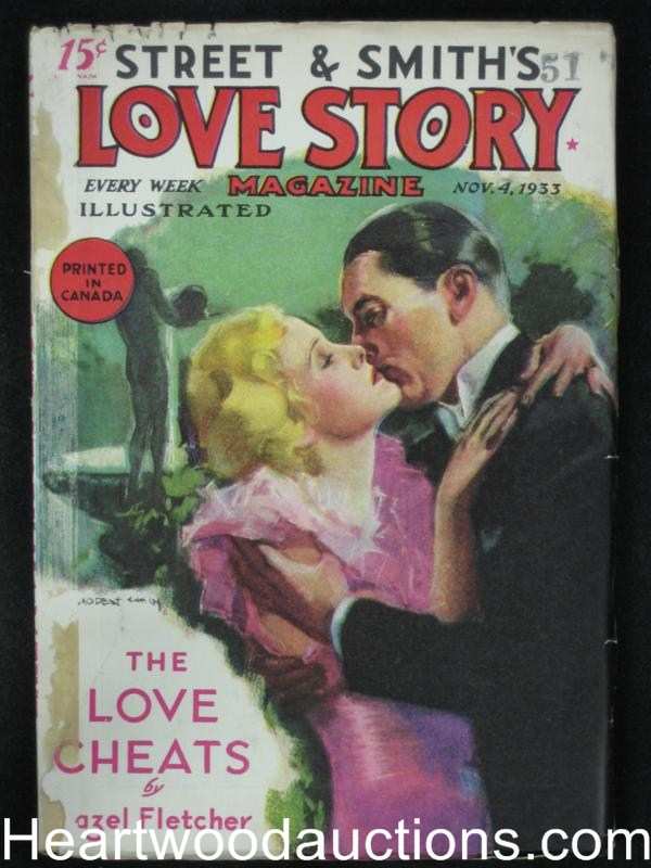 Love Story Nov 4 1933 Stein Cover