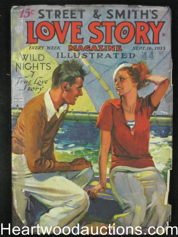 Love Story Sep 16 1933 Sailing Cover