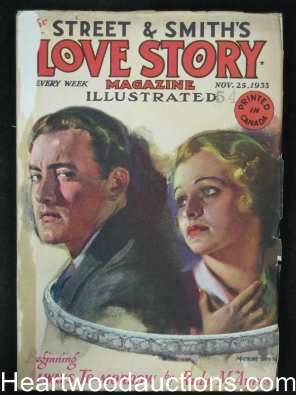 Love Story Nov 25 1933 Stein Cover