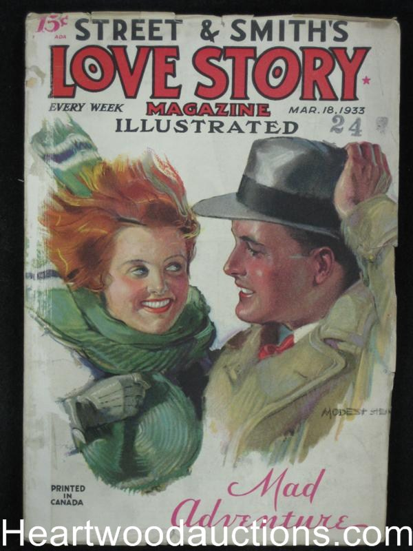 Love Story Mar 18 1933 Stein Cover, Mad Adventure