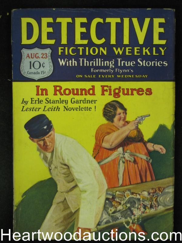 Detective Fiction Weekly Aug 23 1930 Classic E.S. Gardner Lester Leith Cover