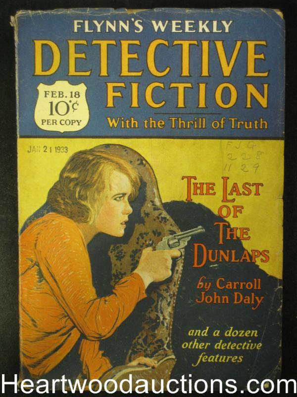 Detective Fiction Weekly February 1928 Carroll John Daly