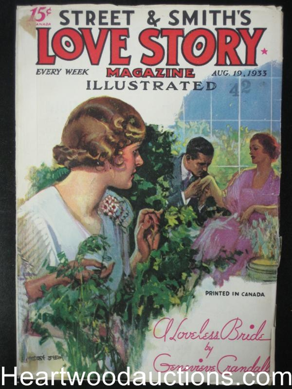 Love Story August 1933- Hgh Grade