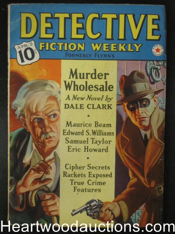 Detective Fiction Weekly Apr 2 1938  Masked Villian Cover- High Grade
